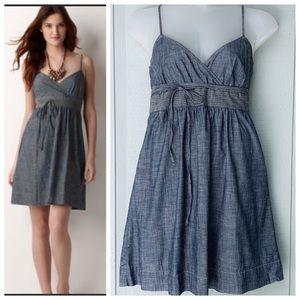 ❤️ LOFT Chambray Full Wrap Summer Dress NWOT
